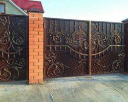 Ворота из металла кованные